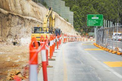 widening of extra Lane - Westbound